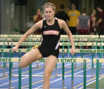 Jolynn Warnes was second in the Bison Pentathlon on Friday.