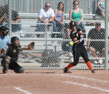 Rachel Ivelia hits in Arizona.  Ivelia currently has 9 hits (4 for extra bases) and 10 RBI in the 2012 season.