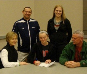 Courtney Kjeldgaard signs with Jamestown College to become a student-athlete, starting Fall 2012
