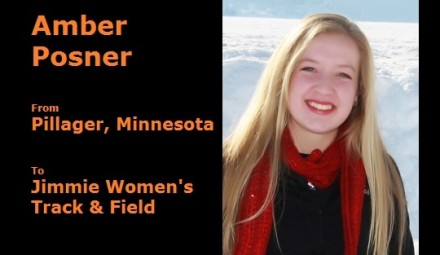Amber Posner (Pillager, MN) signed with the University of Jamestown to become a student-athlete, starting Fall 2014