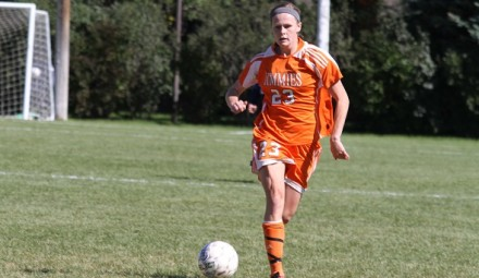 Jolynn Warnes had the lone goal in the Jimmie win over RMC