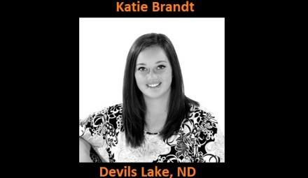 Katie Brandt (Devils Lake, ND) signed with the University of Jamestown to become a student-athlete, starting Fall 2014