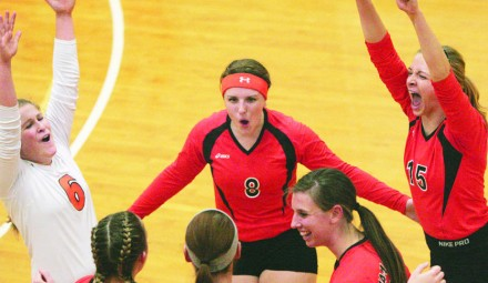 The University of Jamestown won its 2nd straight NSAA volleyball tournament