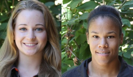 Amy Fearnside (L) and Shai Mason (R) earned places at SFU Clan International