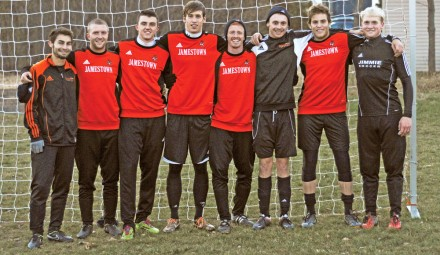 The Jimmie soccer team has been led by its nine-player senior class this season, featuring, from left, Zach O�Dell, Jack Hart