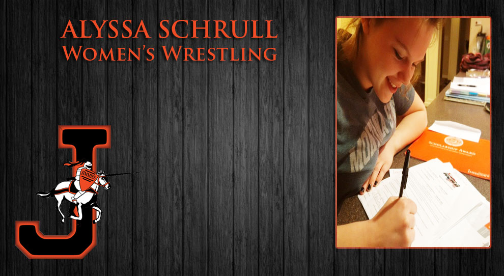 Photo for Alyssa Schrull signs with University of Jamestown