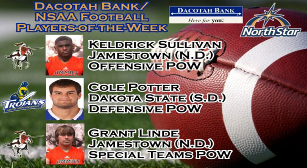 Photo for Keldrick Sullivan and Grant Linde earn POW honors