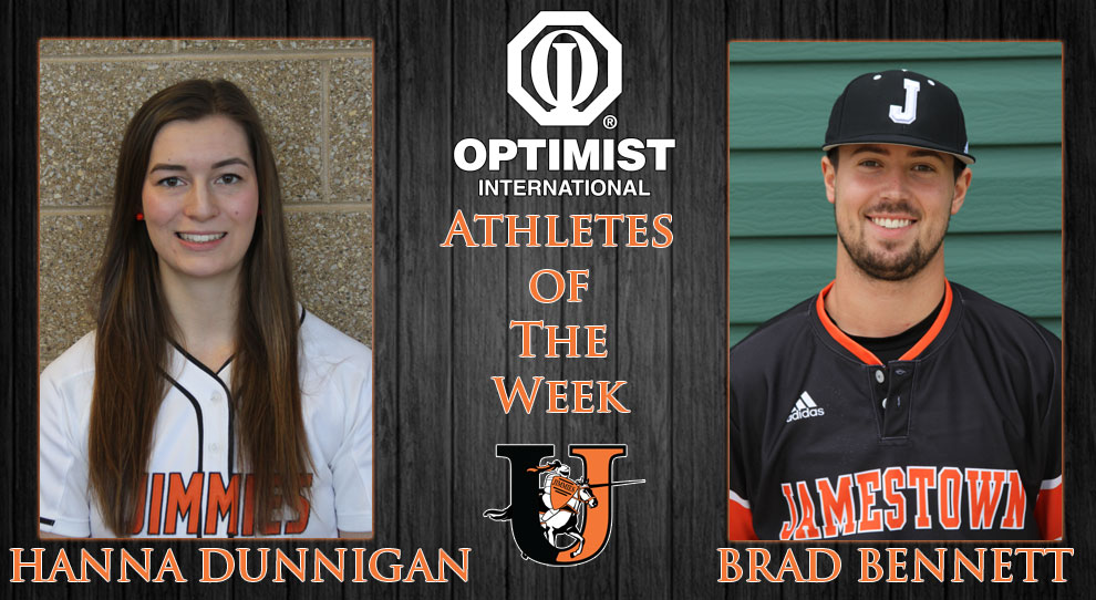 Photo for Hanna Dunnigan and Brad Bennett named Optimist Athletes of the Week