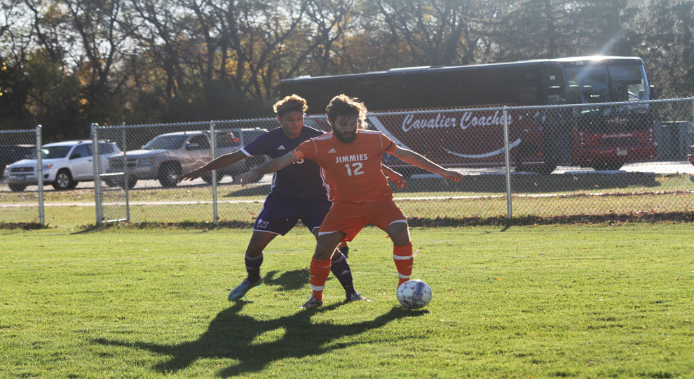 Jacob Scotte-Hatherly (12) had the Jimmies' lone goal Friday