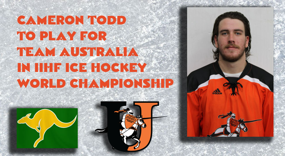 Photo for Cameron Todd to play for Team Australia in 2017 IIHF Championships