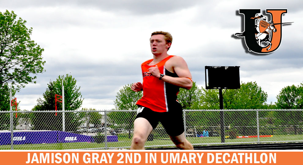 Photo for 2nd place finish for Jamison Gray at UMary decathlon