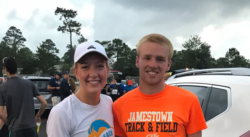 Photo for Amber Posner and Matt Young compete in NAIA marathon