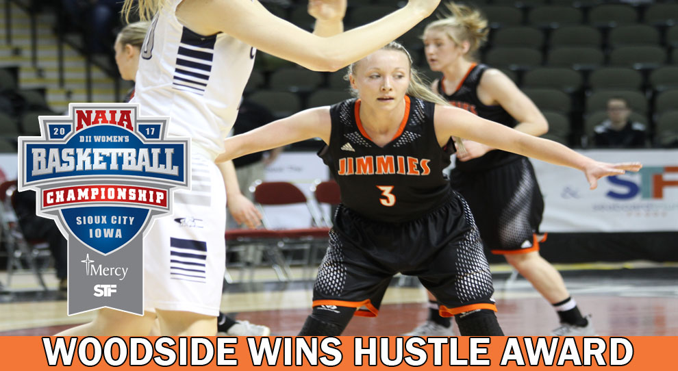 Photo for Bryn Woodside wins NAIA Hustle Award